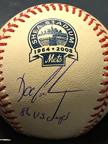 Signed Dwight Gooden New York Mets 86 Ws Champs Signed Shea Stadium Official Major League Baseball (Shea Autographed Baseball)
