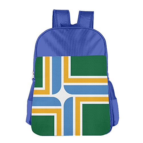 DS-CO Kid Flag Of Portland Oregon Backpack Shoulder Bag Students Schoolbag For Girls&Boys(2colors:Pink.Blue)