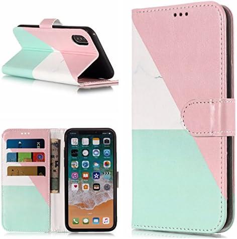 iPhone XS シンプル、ピンク、緑、大理石超薄 超軽量 高质感 耐冲击 携帯を保護する 収納しやすい 潮流 2019 最新のデザイン