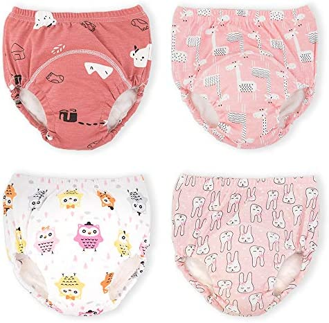 Max Shape Potty Training Pants Girls 2T,3T,4T,Toddler Training Underwear for Baby Girls 4 Pack