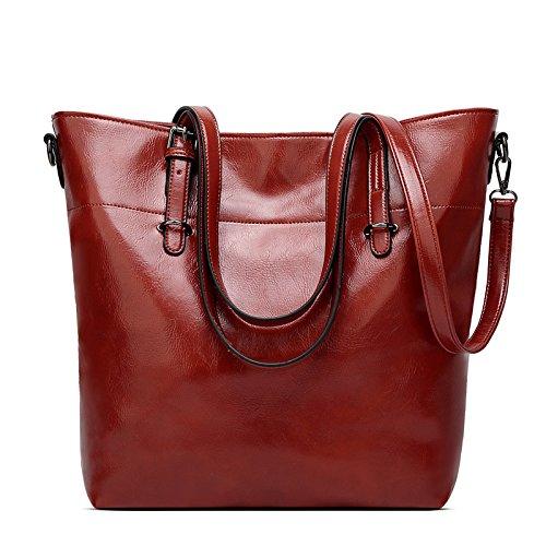 Amazon.com  Women Bag Casual Vintage Shoulder Bag Handbags Cross Body Bag  Large Capacity Brown Bags Tote Purse  Clothing 0fe8e9b9cd7ae