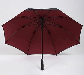 ssby doble paraguas, Hombres con mango largo grande automática paraguas, doble recto hembra negro