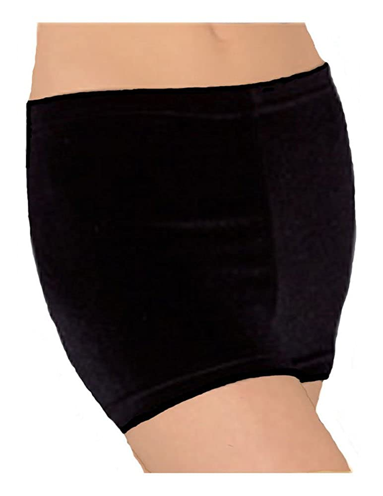 Look-It Activewear Black Velvet Shorts for Gymnastics Or Dance Girls and Women