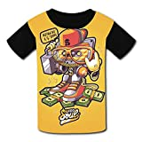 Hip Hop Dollar Street Rock T-Shirt Short Sleeve Kids Tee Shirt Black Graphic 2018 for Girls Boys Black