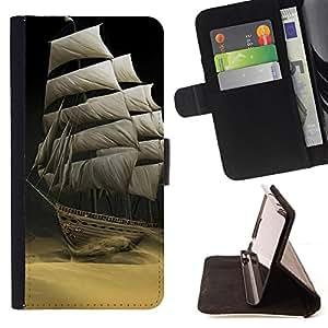 For LG G2 D800 - Sailing the desert /Funda de piel cubierta de la carpeta Foilo con cierre magn???¡¯????tico/ - Super Marley Shop -