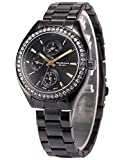 Taylor Cole Ladies' TC012 Date Day 24hour Display Stainless Steel Band Quartz Watch