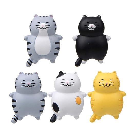 Adhesivos 3D divertidos para nevera, diseño de gatos, 5 unidades ...