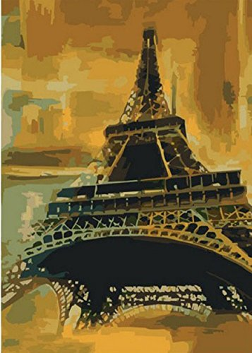 Greek Art Paintworks Paint Color By Number,Eiffel Tower styleB,16-Inch by 20-Inch