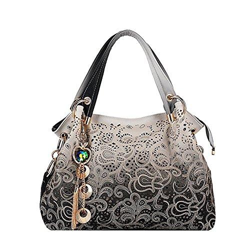 Cloudbag HB30095 PU Leather Handbag for Women,Fashion Gift Commuter Bag,Plum