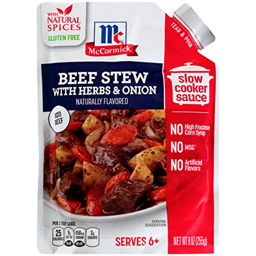 McCormick Slow Cookers Naturally-Flavored Hearty Beef Stew With Herbs & Onions Seasoning Mix, 9 oz