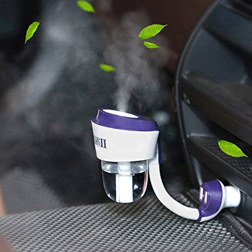 HOMEE Multi - function humidifier car aroma spray air purifier car charger portable,Violet