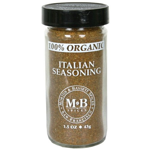 Morton & Bassett Organic Italian Seasoning, 1.5-Ounce Jars (Pack of 3)