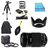 Deluxe Shooters Package for Canon Rebel SL1: Includes Canon EF-S 55-250mm f/4.0-5.6 IS II Telephoto Zoom Lens, 1x Dust Cleaner Blower, 1x Ultra High Speed 32GB SDHC Memory Card, 1x USB SD Card Reader, 1x Hard Tulip Lens Hood, 1x 72'' Professional Tripod, 1