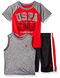 U.S. Polo Assn. Boys T-Shirt, Tank and Mesh Short Set