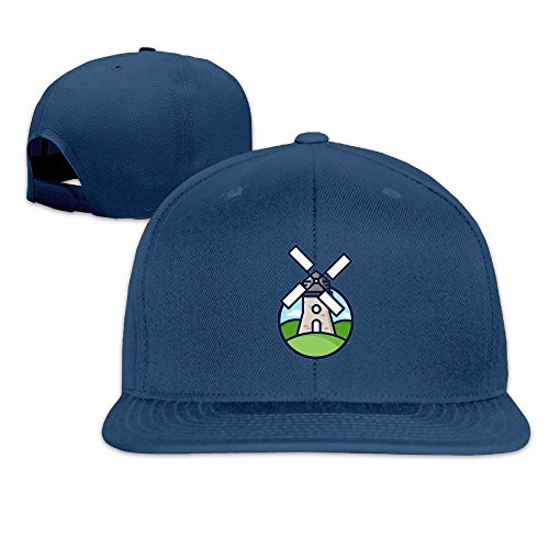 (Windmill Simple Flat Baseball Caps For Teen Boys Casual Great For Travle Hiking Sunmmer Hats)