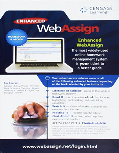 Webassign Enhanced Web Assign