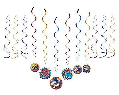 American Greetings Blaze and the Monster Machines Hanging Party Decorations - Party Machine