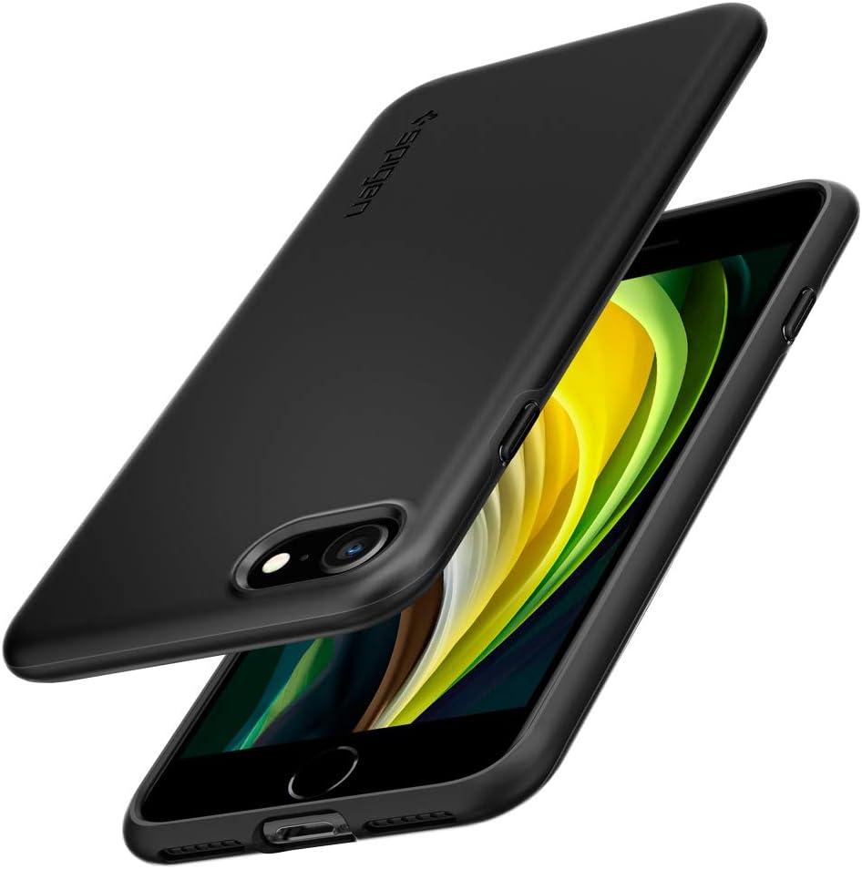 Spigen Thin Fit Pro Designed for iPhone SE 2020 Case/Designed for iPhone 8 Case (2017) / Designed for iPhone 7 Case (2016) - Black