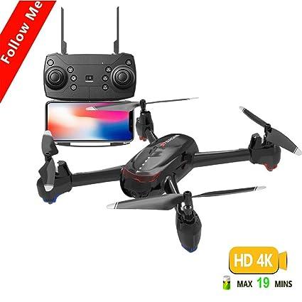 LJXWXN Drone 4K Sin Escobillas con Cámara 5G WiFi FPV Flujo Óptico ...
