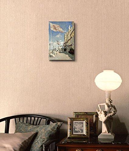 Hotel des Roches Noires Trouville 1870 by Claude Monet Print Famous Oil Painting Reproduction