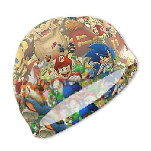 - Sup-er Ma-Rio Kids Swim Caps Cute Swimming Pool Hat No-Slip Swim Goggles for Children Boys Girls