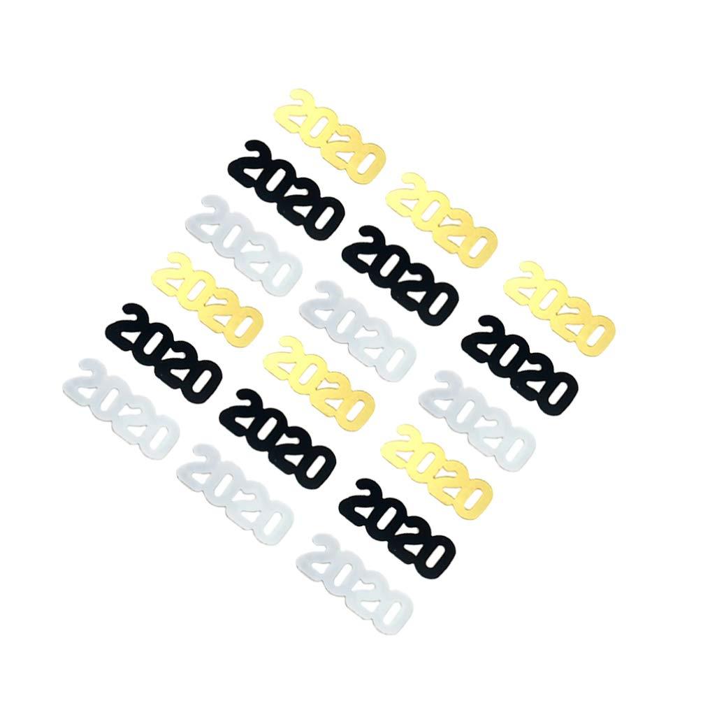 Amosfun 600 Pezzi 2020 Festa di Capodanno coriandoli Numero Lettera coriandoli Colorati Festa gettando Pezzi di Carta