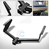 HS Power Black Finished Class 3 Trailer Hitch Receiver Bumper Tow Kit 2' for 2008-2012 Jeep Liberty