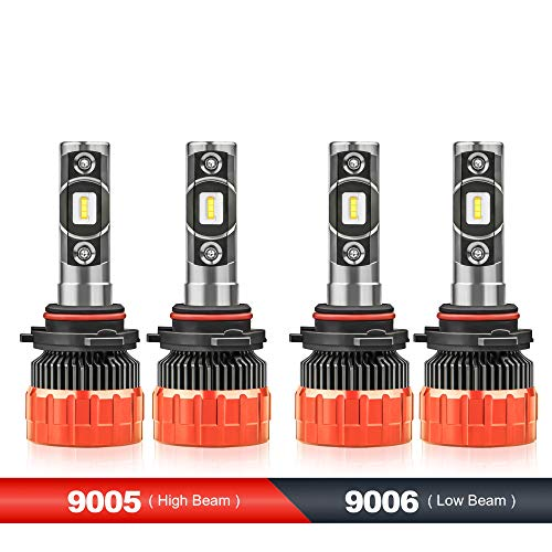 MOSTPLUS 8000 Lumens 80W/Pair-9005+9006 All-in-One LED-TX1860 Chip Really Focused Headlight Bulbs Super Mini Conversion Kit Xenon White Three Years Warranty (2 Pairs)