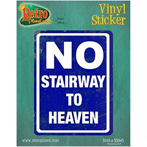No Stairway To Heaven Distressed Vinyl Sticker Waynes World