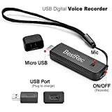 BestRec 3 in 1 Digital Voice Recorder 8GB USB Digital Spy Voice Portable Dictaphone Recorder(Support Play on Android Phone)