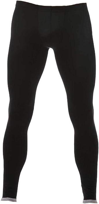 Men Ice Silk Underwear Low Rise Slim Leggings Tight Pant Long Trousers