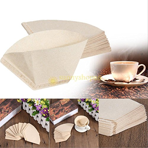 40pcs Coffee Paper Filter for Coffee Hand-poured Coffee Filter Drip 1-2 Cup New (Cone Hand Vacuum compare prices)