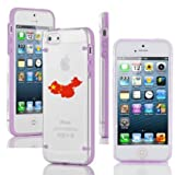 Apple iPhone 4 4s Ultra Thin Transparent Clear Hard TPU Case Cover China Chinese Flag (Purple)