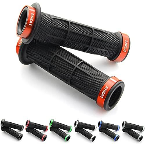 Universele fietsgrepen, E-Bike stuurgrepen, quad grepen, ATV, griprubbers 2 x 22 mm (strip) (oranje)