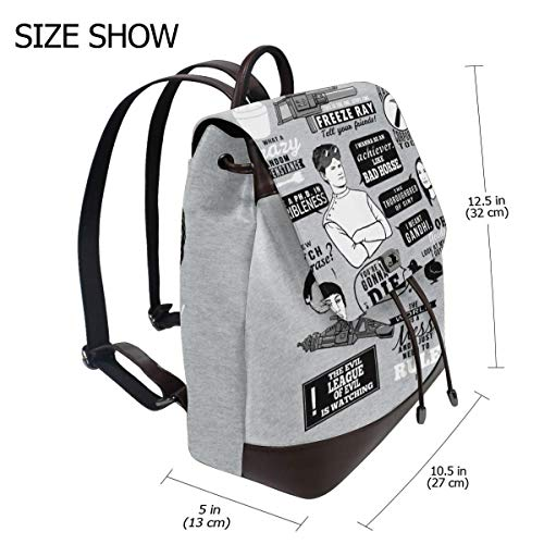 Horrible Quotes Dr Horribles Sing Along Blog Fashion Design Leather Backpack For Women Men College School Bookbag Weekend Travel Daypack