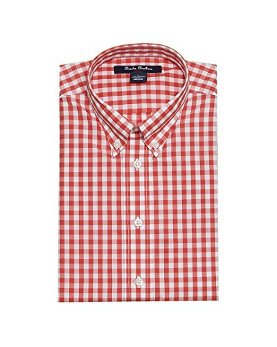 Brooks Brothers Big Boys' Non Iron Gingham Sport Shirt, Red, L