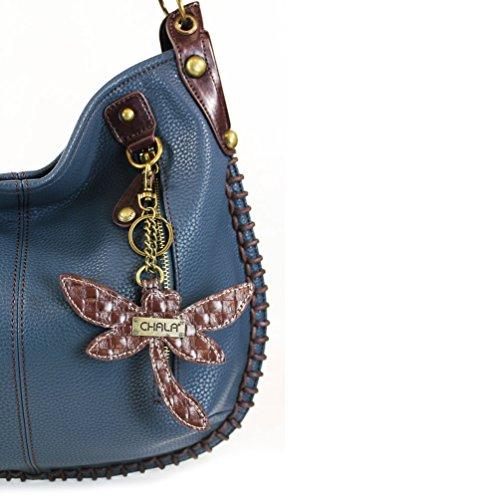 Handbag Hobo Crossbody CHALA Bag Shoulder Style Crossbody Dragonfly Navy Soft Blue Large Casual Uwaa1