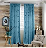 4 feet roman shades - WPKIRA Rod Pocket Top Room Decor Modern Vertical Stripes Lace Sheer Curtain Jacquard Semi-shading Screens Window Curtain For Balcony Living Room 1 Panel Width 75 by Length 96 inch