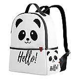 Use4 Hello Panda Love Heart Polyester Backpack School Travel Bag