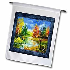 Susan Brown Designs Nature Themes - Autumn Landscape in Painting - 12 x 18 inch Garden Flag (fl_41238_1)