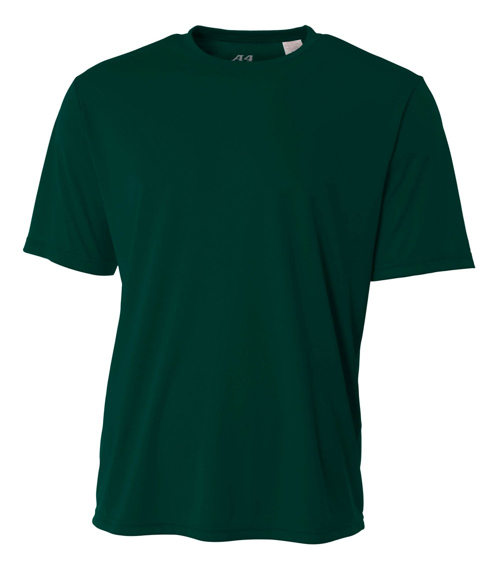 A4 Men's Cooling Performance Crew Short Sleeve T-Shirt, Forest, Small by A4 (Image #1)
