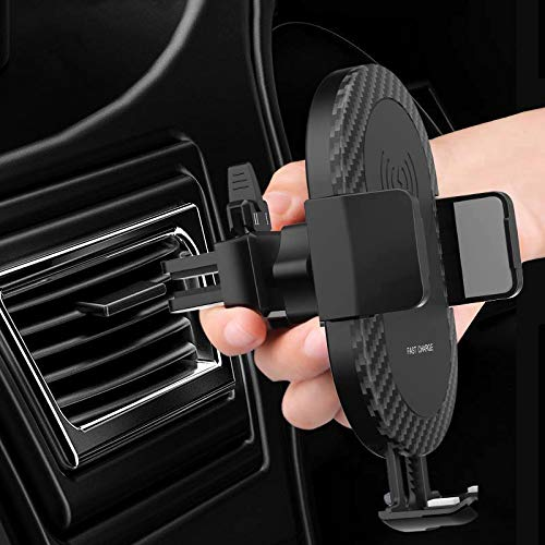 Wireless car Charger with air Vent Phone Holder, Qi Fast Charger 10w for Samsung S9+, S9, S8 Plus, Note 8 and Standard Charge for iPhone X, iPhone 8, iPhone 8 Plus, LG: V30, G6. by Sanctum's