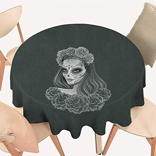 longbuyer Day of The Dead Circular Table Cover