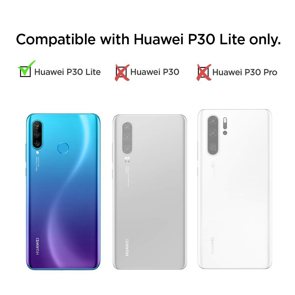 con Kick Stand y Protecci/ón h/íbrida contra ca/ídas para Huawei P30 2019 Gunmetal spigen Slim Armor Funda Compatible con Huawei P30 2019