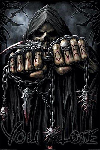 Spiral Game Over Grim Reaper Poster Art Print