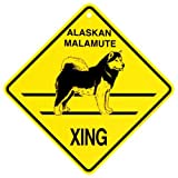 KC Creations Alaskan Malamute Xing Caution Crossing Sign Dog Gift