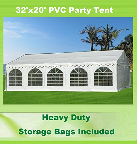 Cheap 32'x20′ PVC Party Tent – Heavy Duty Wedding Canopy Gazebo Carport – with Storage Bags – By DELTA Canopies