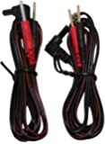 """Syrtenty 45"""" Replacement TENS unit 3.5 mm connector Lead Wires - 2 Pack"""