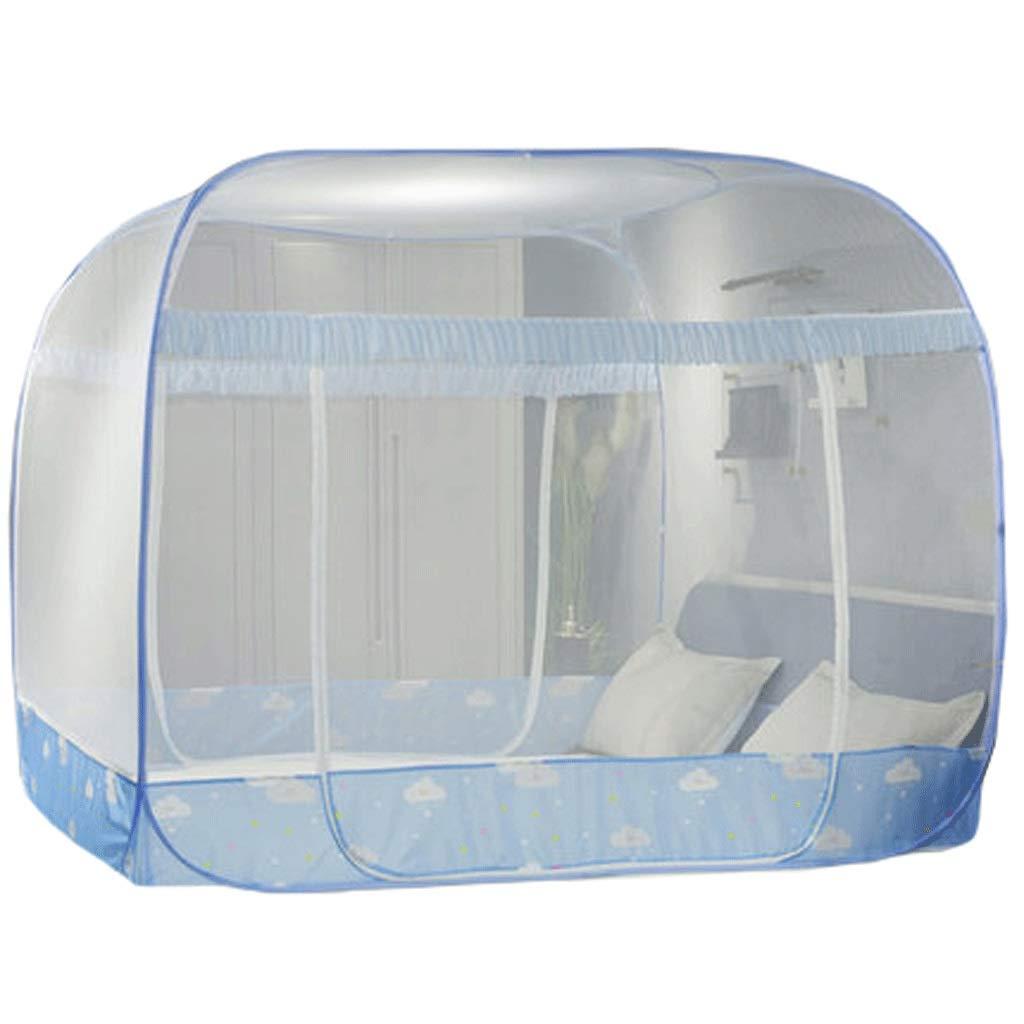 ダストトップ蚊帳ジッパードロップ子供1.5 / 1.8メートルベッド2メートル家庭用蚊帳暗号化肥厚王女の風 (Color : A, Size : 2m bed) 2m bed A B07SKQJ8ZQ