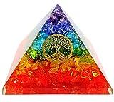 7 Chakra Crystal Tree of Life Orgone Pyramid